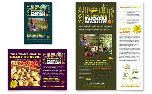 Farmers Market Flyer & Ad Template