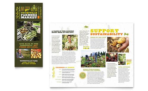 Farmers Market Tri Fold Brochure Template