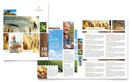 Farming & Agriculture Brochure Template