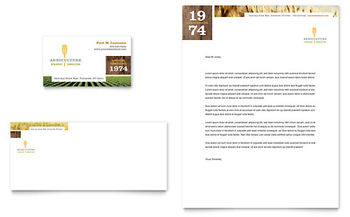 Farming & Agriculture Business Card & Letterhead Template