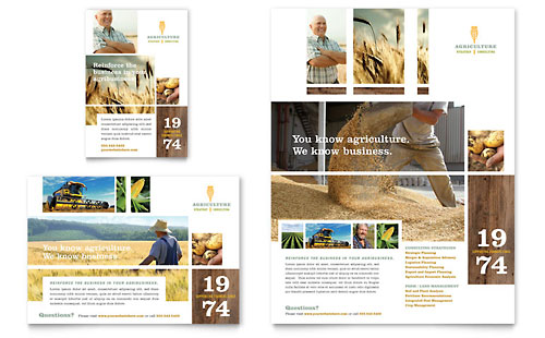 Farming & Agriculture Flyer & Ad Template