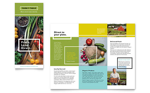 Organic Food - Pamphlet Sample Template