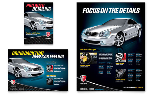 Auto Detailing Flyer & Ad Template