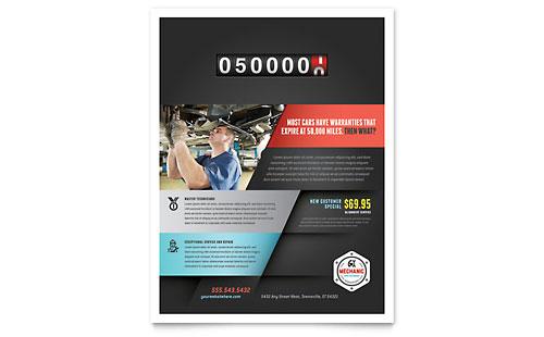 Auto Mechanic Flyer Template