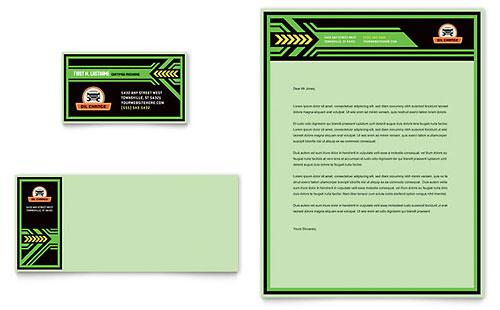 Oil Change Business Card & Letterhead Template