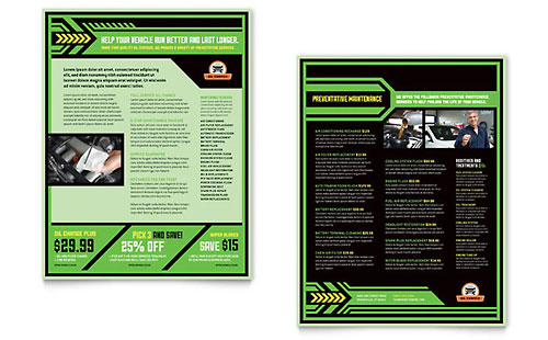 Oil Change Sales Sheet Template