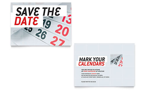 Save The Date - Sample Announcement Template