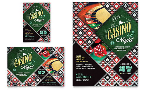 Casino Night Flyer & Ad Template