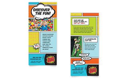 Kids Club - Sample Rack Card Template