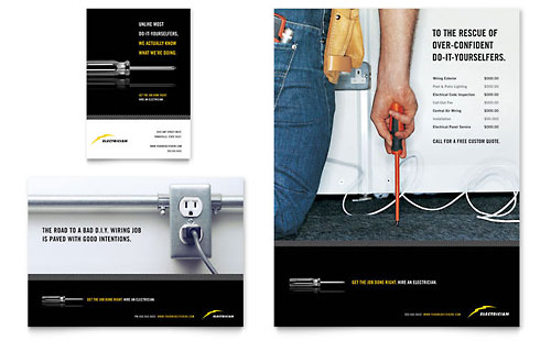 Electrician Flyer & Ad Template