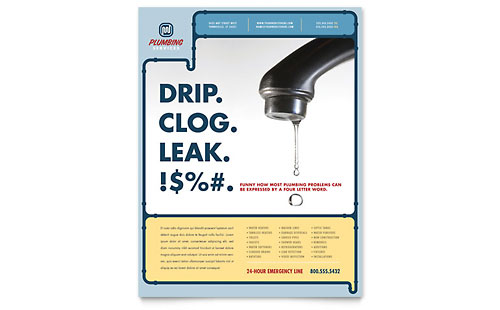 Plumbing Services Flyer Template