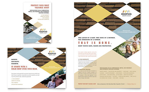 Roofing Contractor Flyer & Ad Template