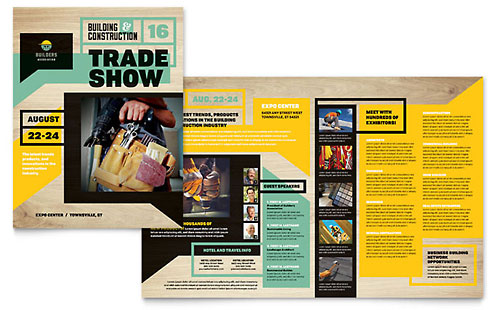 Builders Trade Show InDesign Brochure Template