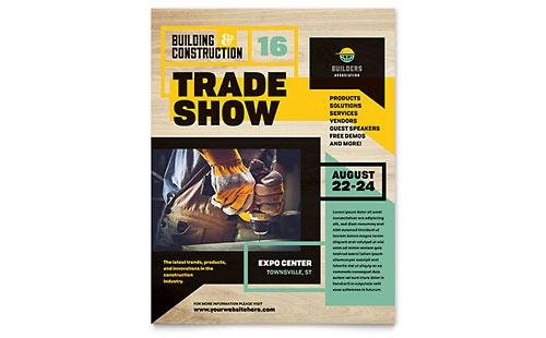 Builders Trade Show Flyer Template