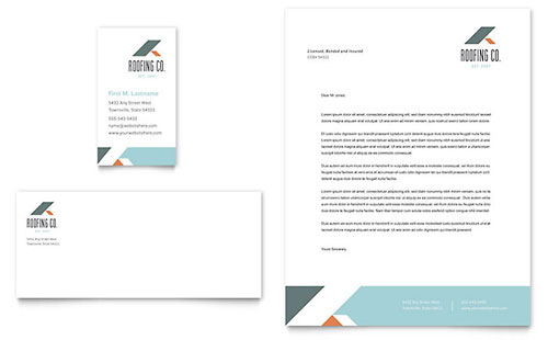 Roofing Company Business Card Template