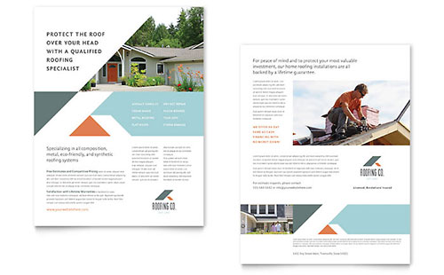Roofing Company Datasheet Template