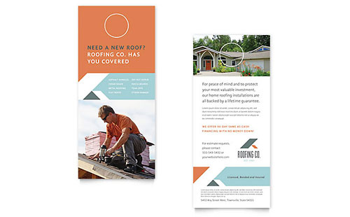 Roofing Company Rack Card Template