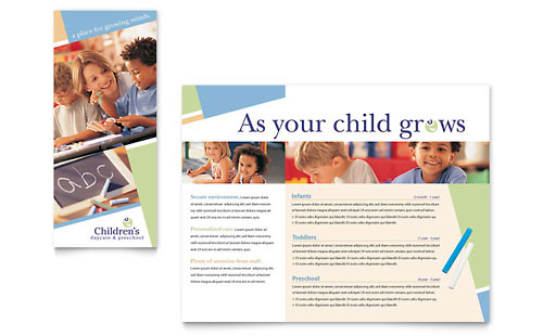 Child Care & Preschool Brochure Template