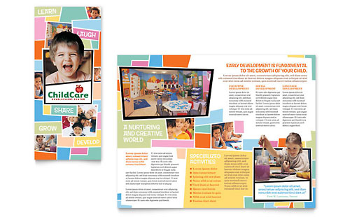 Preschool Kids & Day Care Brochure Template