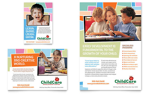 Preschool Kids & Day Care Flyer & Ad Template