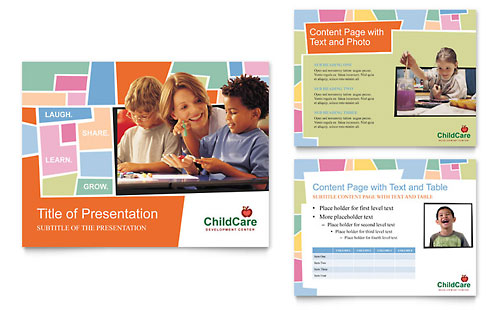Preschool Kids & Day Care PowerPoint Presentation Template
