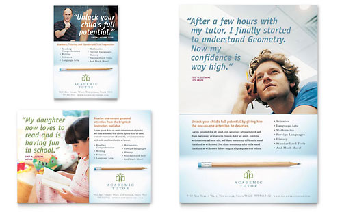 Academic Tutor & School Flyer & Ad Template