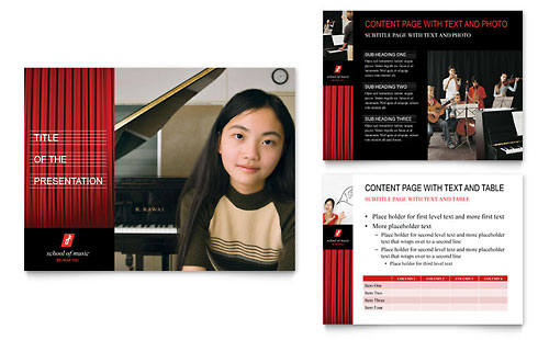 Music School PowerPoint Presentation Template