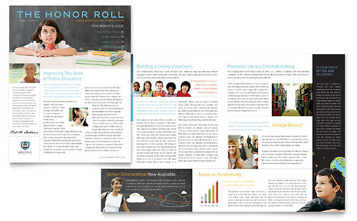 Education Foundation & School - Newsletter Template