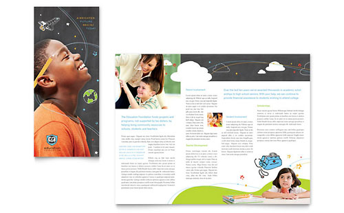 Education Foundation & School Tri Fold Brochure Template