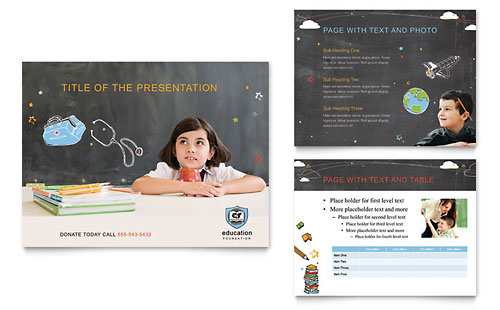 Education Foundation & School PowerPoint Presentation Template