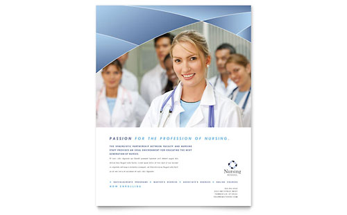 Nursing School Hospital Flyer Template