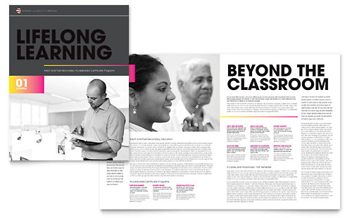 Adult Education & Business School Brochure Template