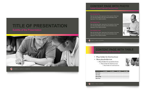 Adult Education & Business School PowerPoint Presentation Template