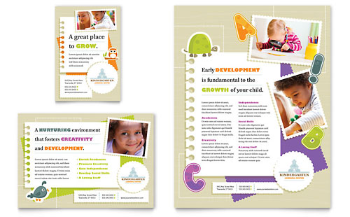 Kindergarten Flyer & Ad Template