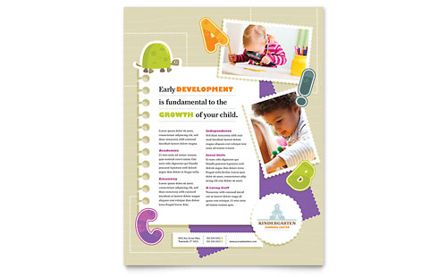 Kindergarten - Flyer Template