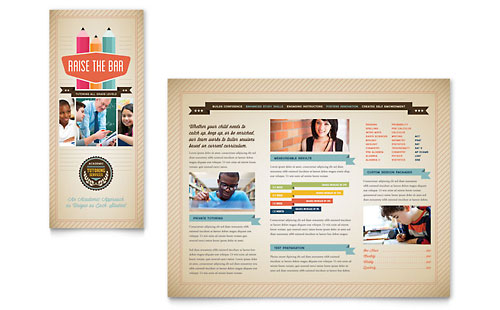 school brochure design templates - education marketing brochures flyers newsletters