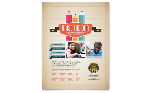 Tutoring School Flyer Template