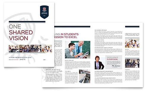 High School - Brochure Template
