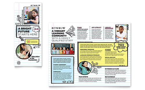 Elementary School - Sample Pamphlet Template