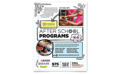 Elementary School Flyer Template