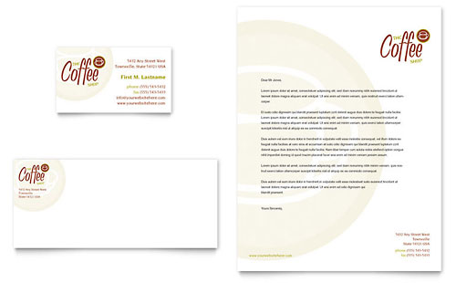 Coffee Shop Business Card & Letterhead Template