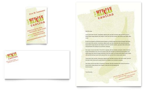 Mexican Restaurant Business Card & Letterhead Template