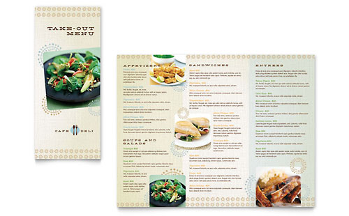 Cafe Deli - Take-out Brochure Template