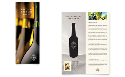 Vineyard & Winery Datasheet Template