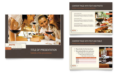 Bistro & Bar PowerPoint Presentation Template