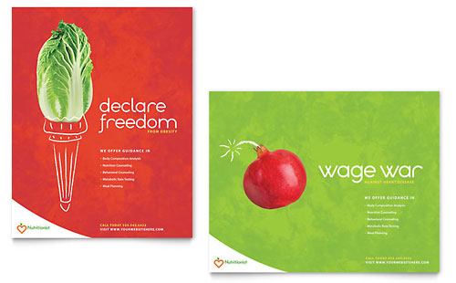 Nutritionist & Dietitian Poster Template