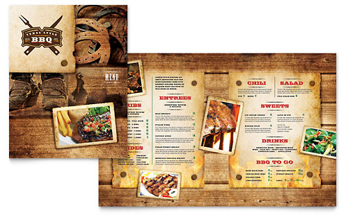 Steakhouse BBQ Restaurant Menu Template