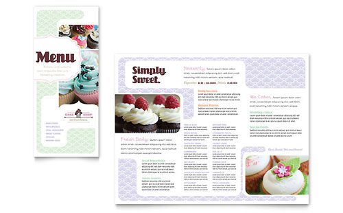Menu Templates InDesign Illustrator Publisher Word – Cafe Menu Template Word