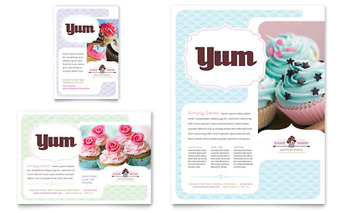 Bakery & Cupcake Shop Flyer & Ad Template