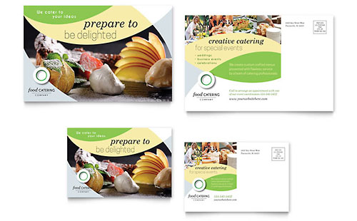 Food Catering Postcard Template